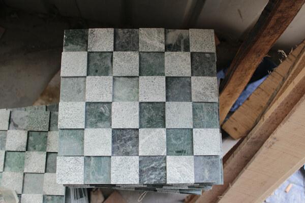 Vendita calda colore verde mosaico piastrelle di marmo granito